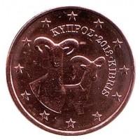 1 Евроцент 2018 год. Кипр