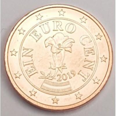 1 евроцент 2019 год. Австрия