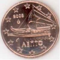 1 евроцент 2008 год. Греция