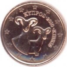 1 Евроцент 2010 год. Кипр