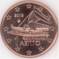 1 евроцент 2013 год. Греция