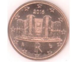 1 евроцент 2016 год. Италия