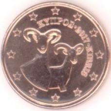 1 Евроцент 2017 год. Кипр