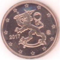 1 евроцент 2017 год. Финляндия