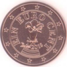 1 евроцент 2018 год. Австрия