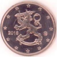 1 евроцент 2018 год. Финляндия