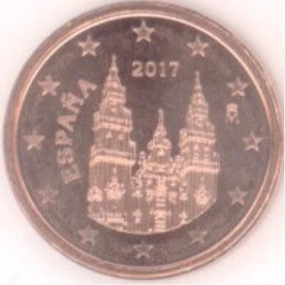 1 евроцент 2017 год. Испания