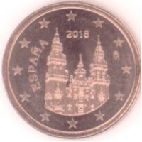 1 евроцент 2018 год. Испания