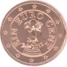 1 евроцент 2011 год. Австрия