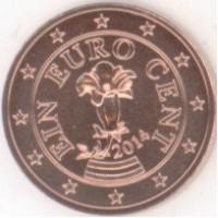 1 евроцент 2015 год. Австрия