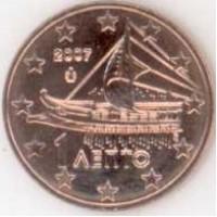 1 евроцент 2007 год. Греция