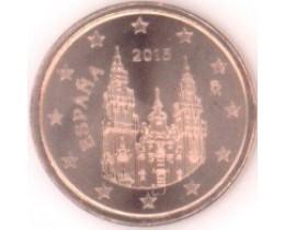 1 евроцент 2015 год. Испания
