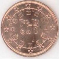 1 евроцент 2004 год. Португалия