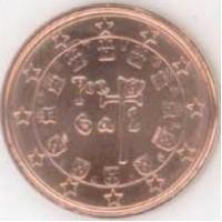 1 евроцент 2005 год. Португалия