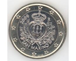 1 евро 2009 год. Сан-Марино