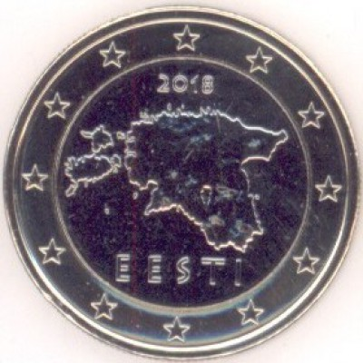 1 Евро 2018год. Эстония