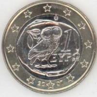 1 евро 2007 год. Греция