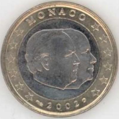 1 Евро 2002 год. Монако. Князь Ренье III