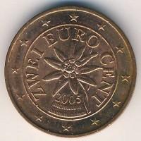 2 евроцента 2005 год. Австрия