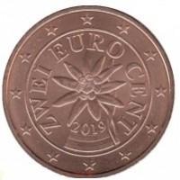 2 евроцента 2019 год. Австрия