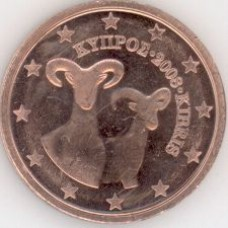 2 Евроцента 2008 год. Кипр