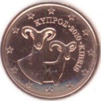2 Евроцента 2010 год. Кипр