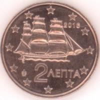 2 евроцента 2016 год. Греция