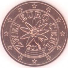 2 евроцента 2018 год. Австрия