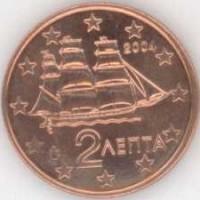 2 евроцента 2004 год. Греция