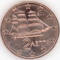 2 Евроцента 2007 год. Греция
