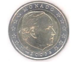 2 евро 2003 год. Монако. Князь Ренье III