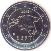 2 евро 2018 год. Эстония