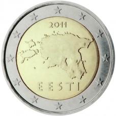 2 евро 2011 год. Эстония