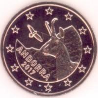 5 Евроцентов 2017 год. Андорра
