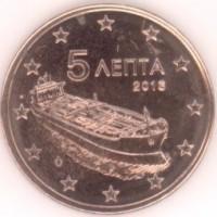 5 евроцентов 2016 год. Греция