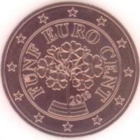 5 евроцентов 2018 год. Австрия