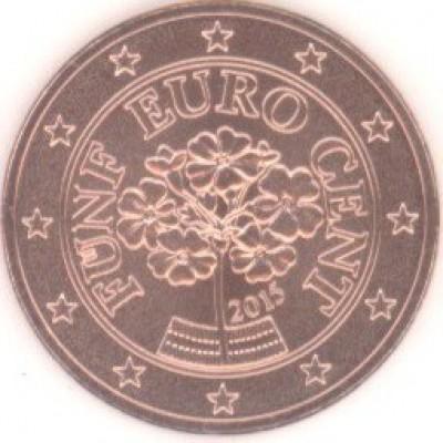 5 евроцентов 2015 год. Австрия