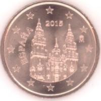 5 Евроцентов 2015 год. Испания