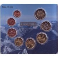Официальный Годовой набор Евро монет Андорра 2014 год.