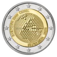 2 евро 2018 год. Словения. Всемирный день пчёл.