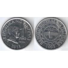 1 песо 2013 год. Филиппины