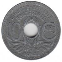 10 сантимов 1941 год. Франция.