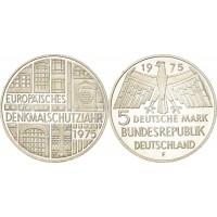 Германия 5 Марок 1975 - Год Памятников