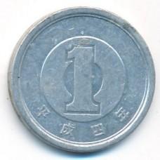 1 иена 1992 год. Япония