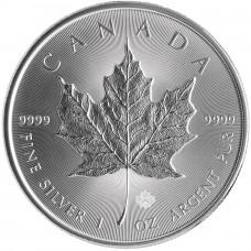 5 долларов 2014 год. Канада. Кленовый лист, серебро 1 oz 999