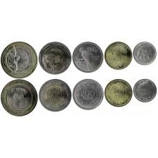 Набор монет Колумбия  2016-2019 год. (5 монеты)