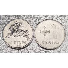 1 цент 1991 год. Литва.