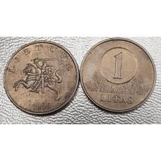 1 лит 1999 год. Литва.