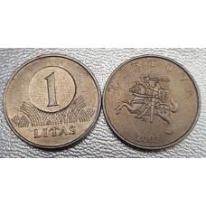 1 лит 2002 год. Литва.