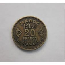 20 франков 1951год. Марокко